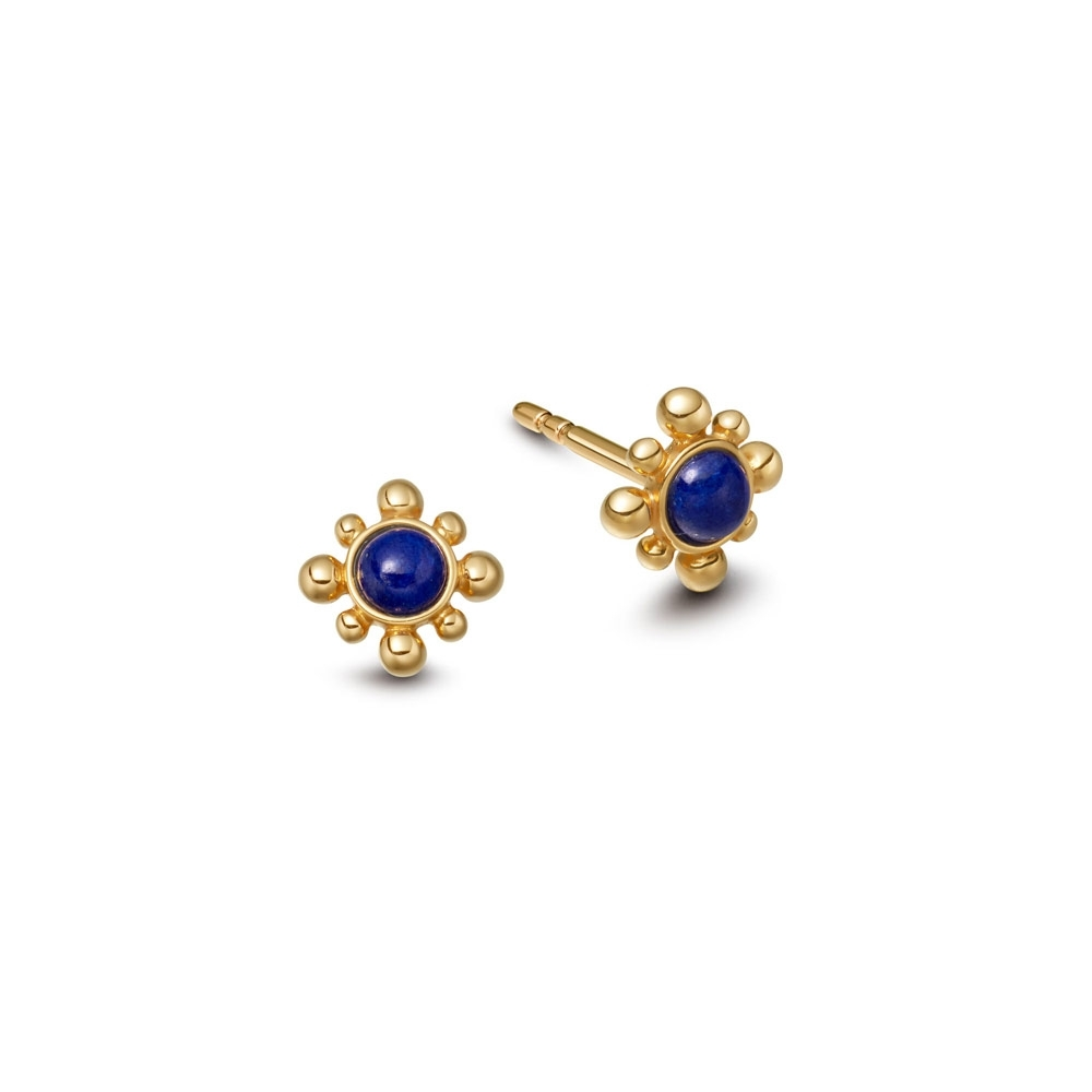 Lapis Mini Floris Stud Earrings