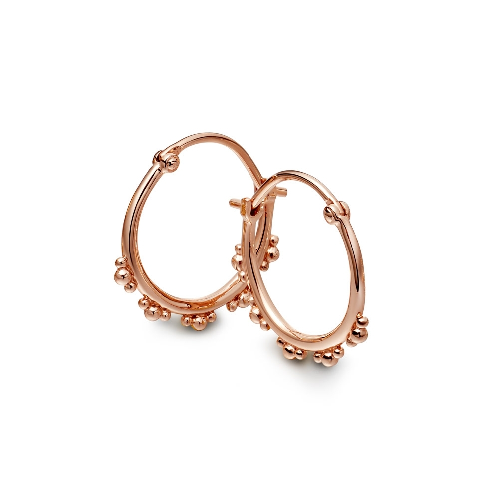 Floris Rose Gold Hoop Earrings