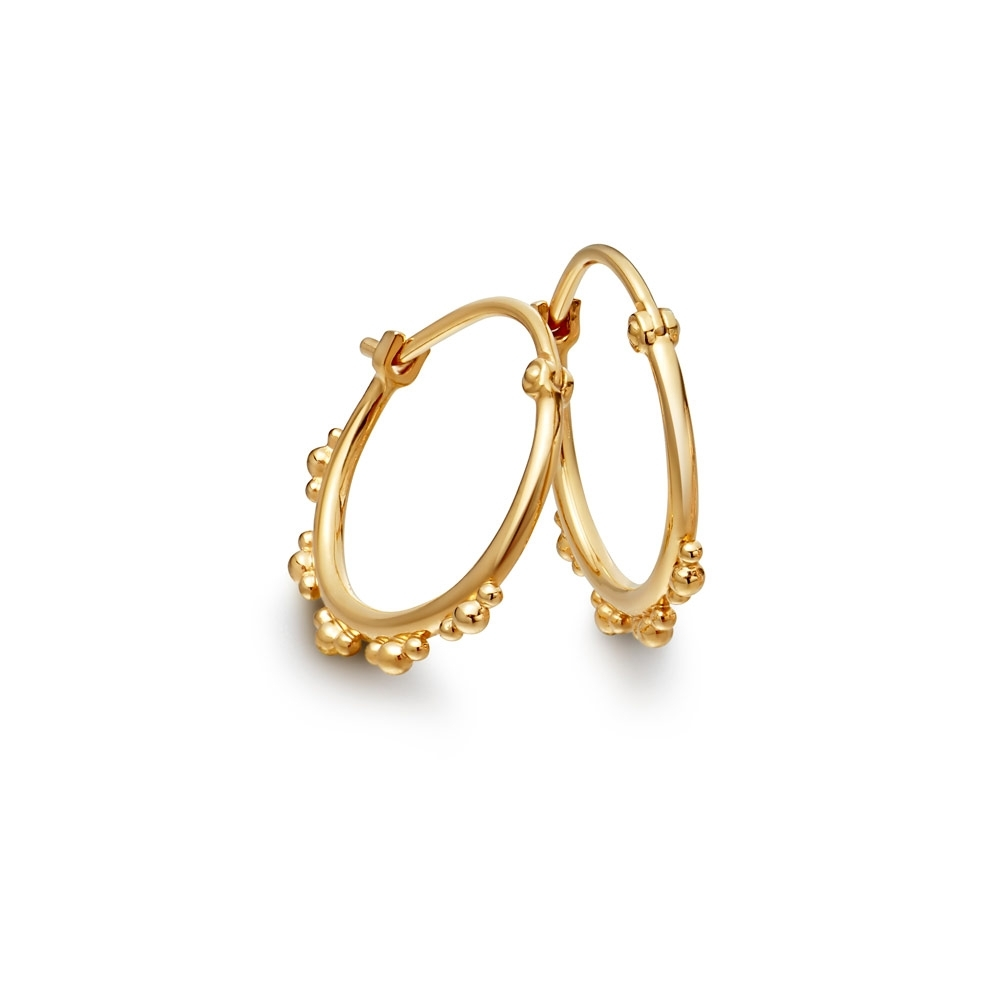 Floris Gold Hoop Earrings