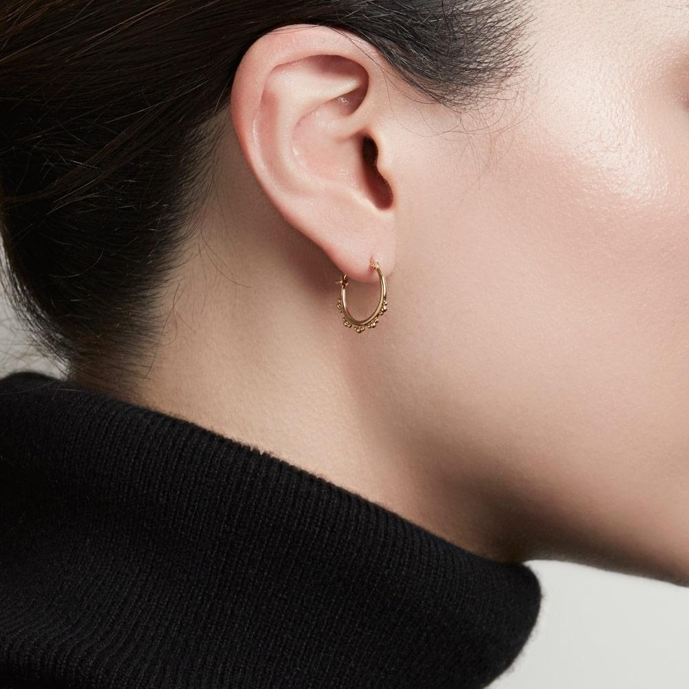 Floris Gold Hoop Earrings