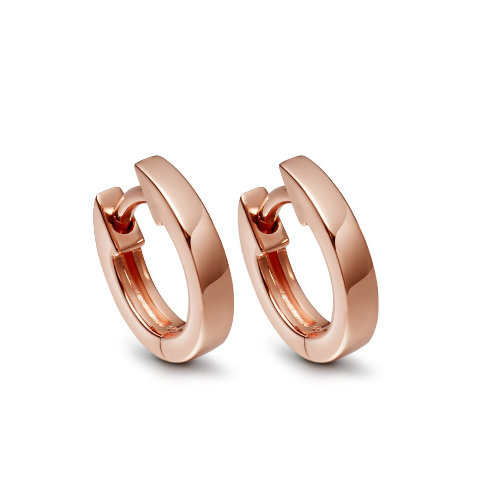 Mini Halo Rose Gold Hoop Earrings