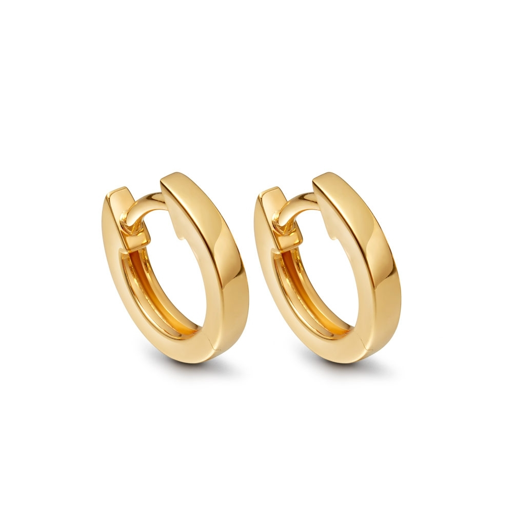 Mini Halo Gold Hoop Earrings