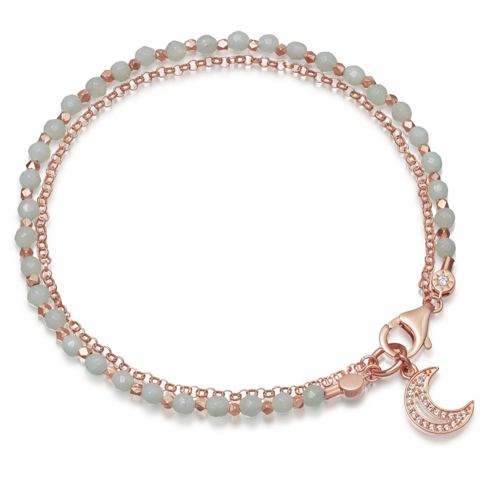 Amazonite Moon Biography Bracelet