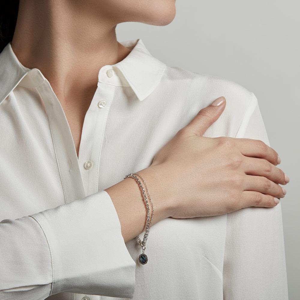 Luna Abalone Biography Bracelet