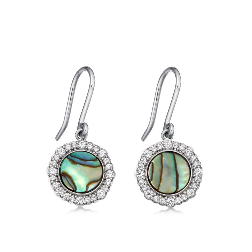Luna Abalone Drop Earrings