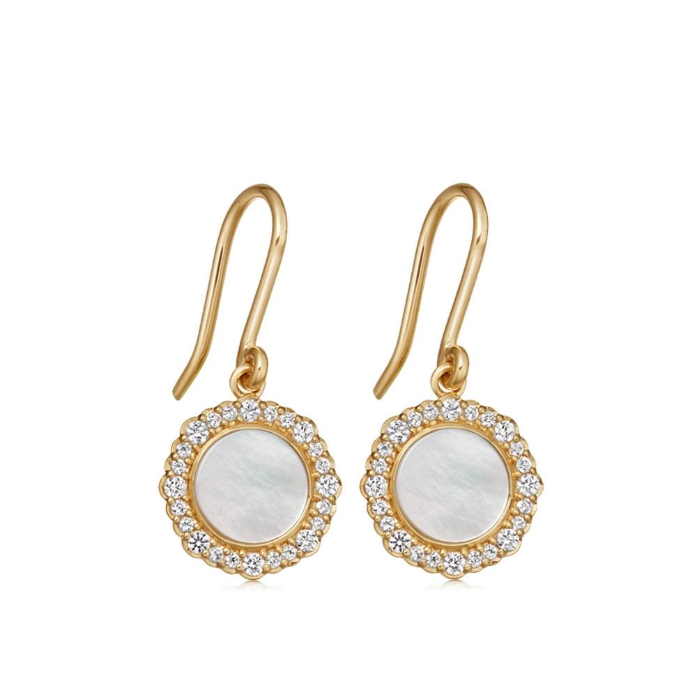 Luna Mother of Pearl Drop Earrings