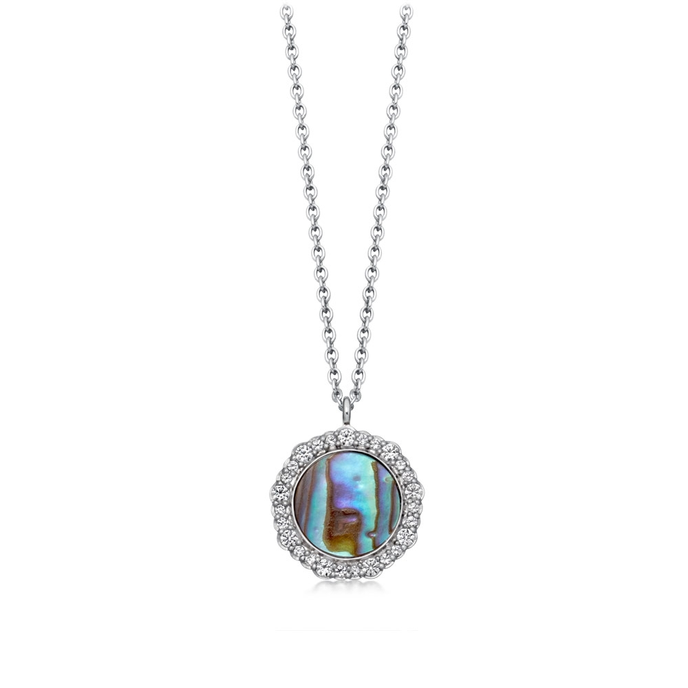 Luna Abalone Pendant Necklace
