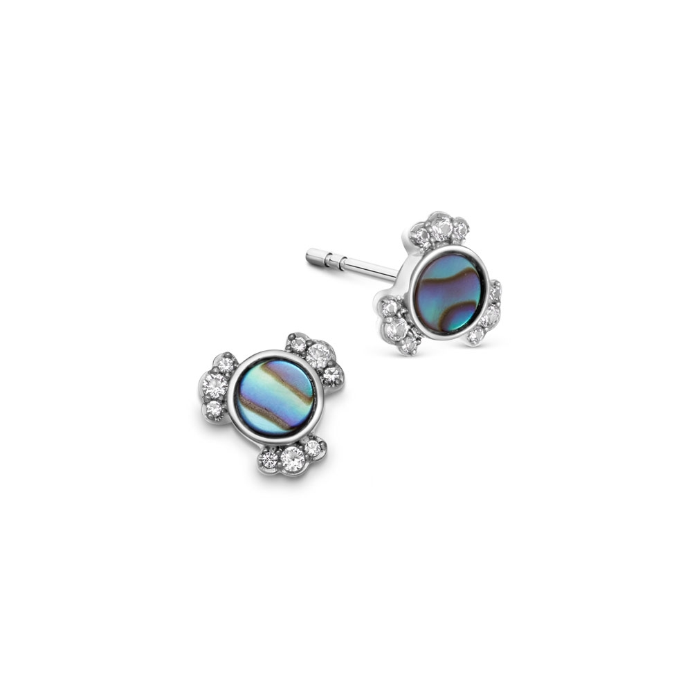 Luna Mini Abalone Stud Earrings