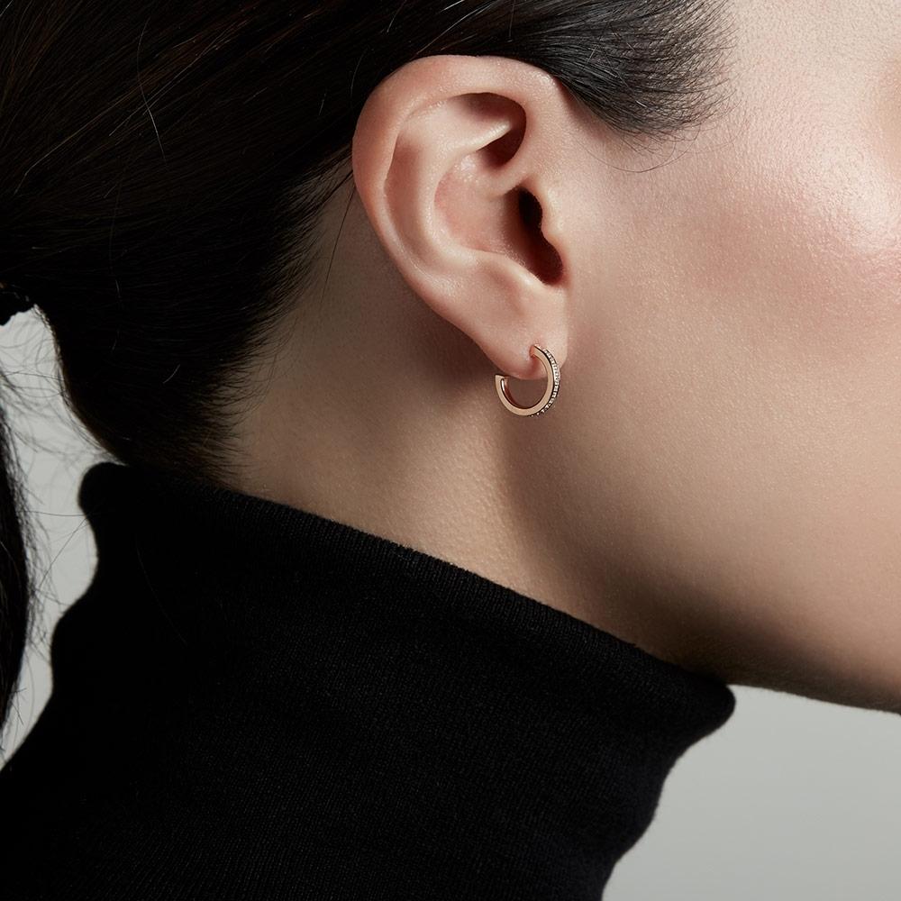 Sapphire Biography Infinity Hoop Earrings
