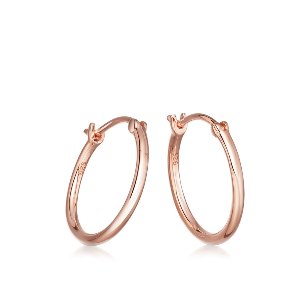 Medium Stilla Rose Gold Hoop Earrings