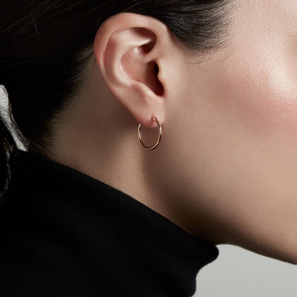 Medium Stilla Rose Gold Hoop Earrings