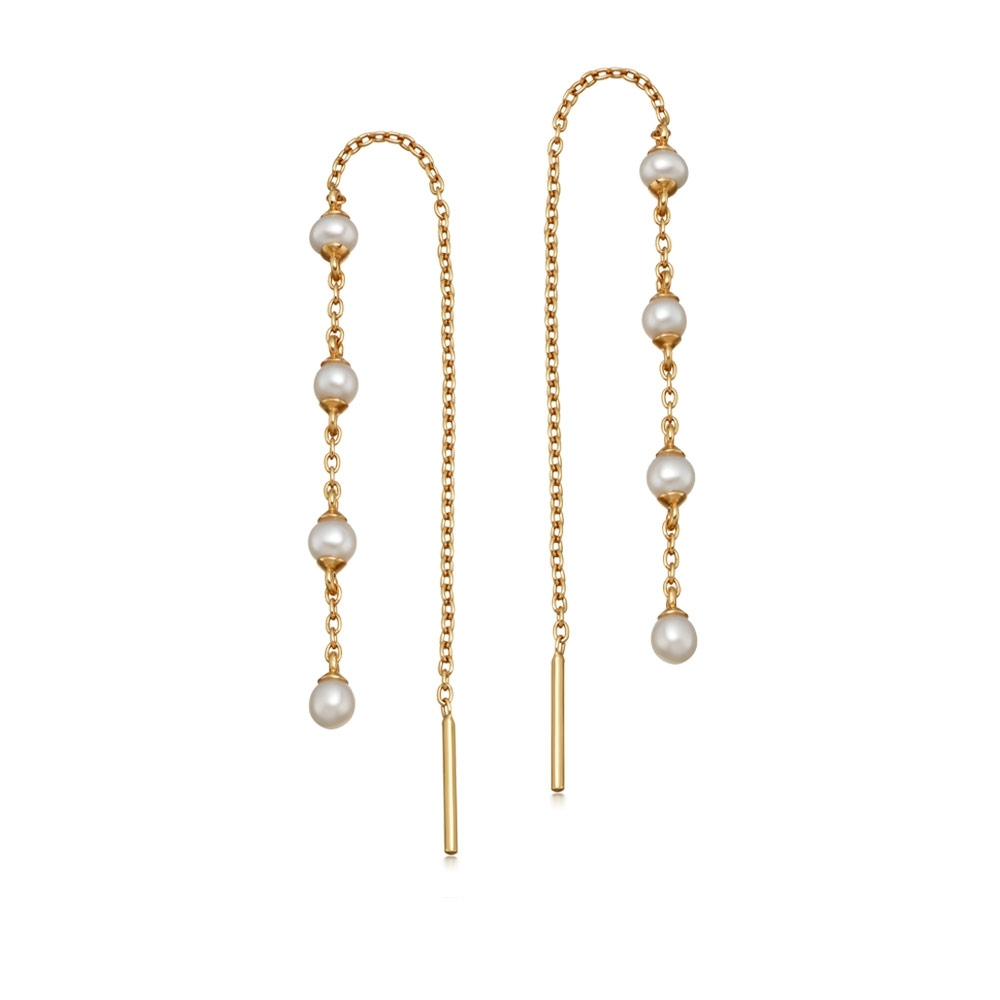 Stilla Pearl Chain Earrings