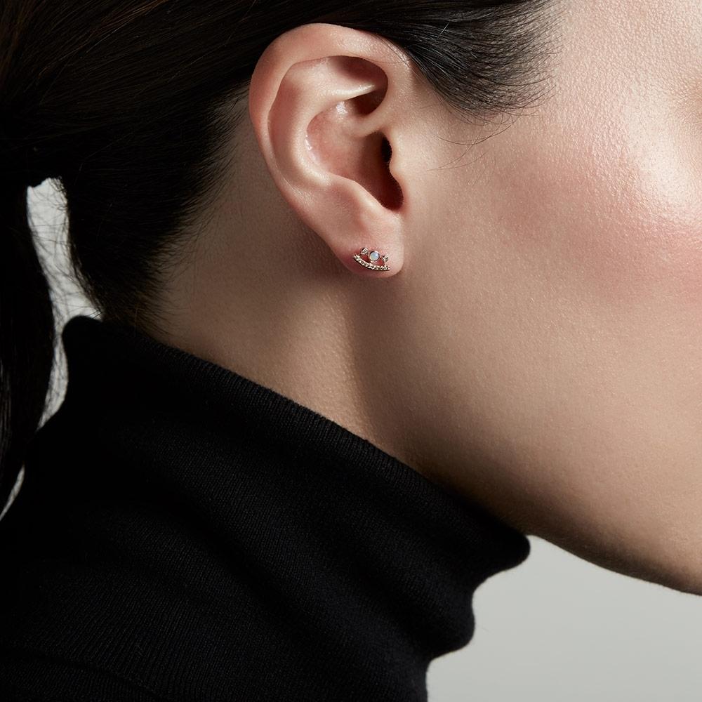 Icon Nova Ellipse Opal Stud Earrings