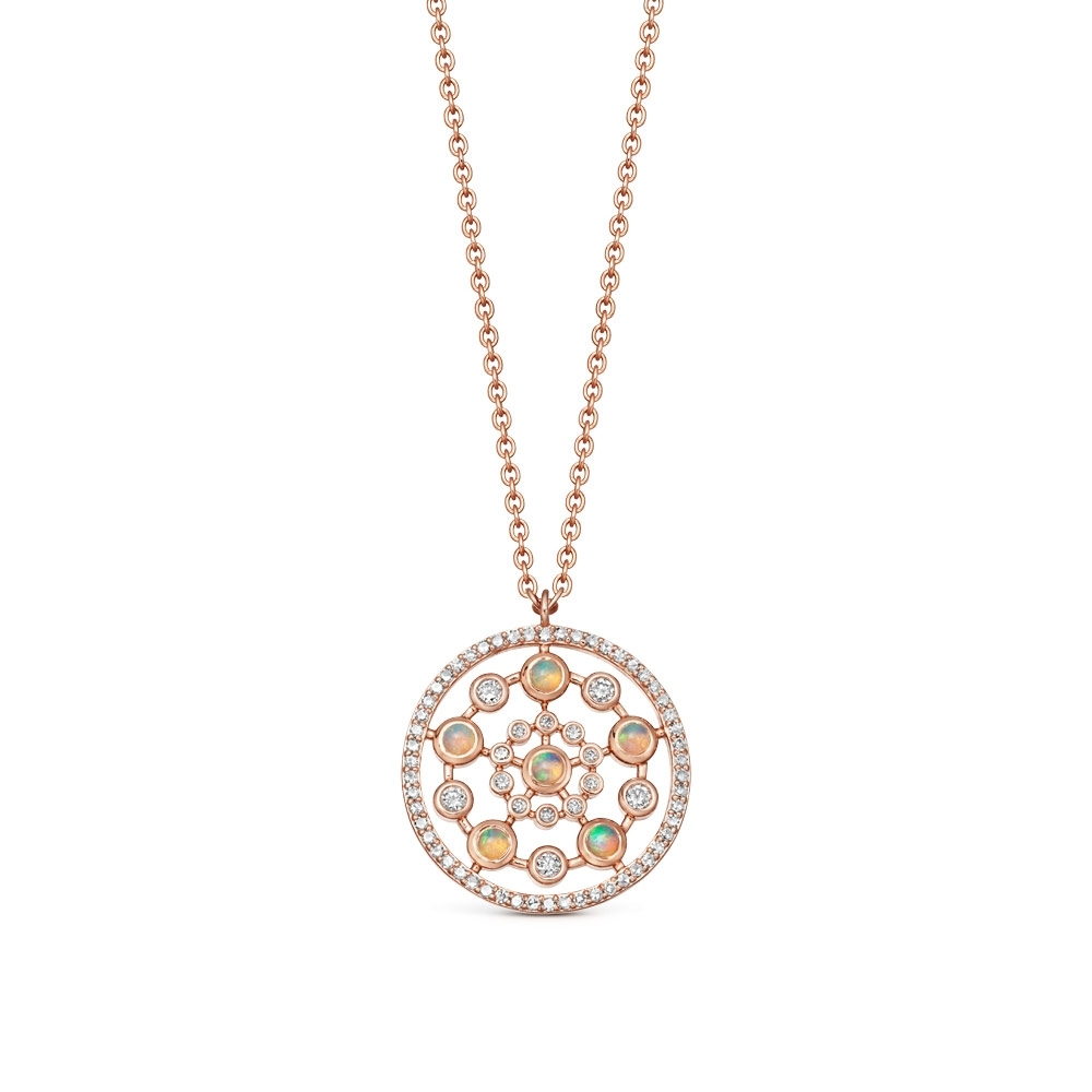 Medium Icon Nova Opal Pendant Necklace