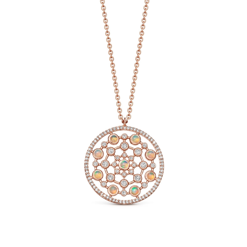 Large Icon Nova Opal Pendant Necklace