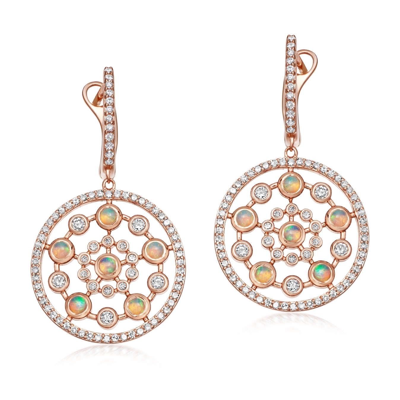 Medium Icon Nova Opal Drop Earrings