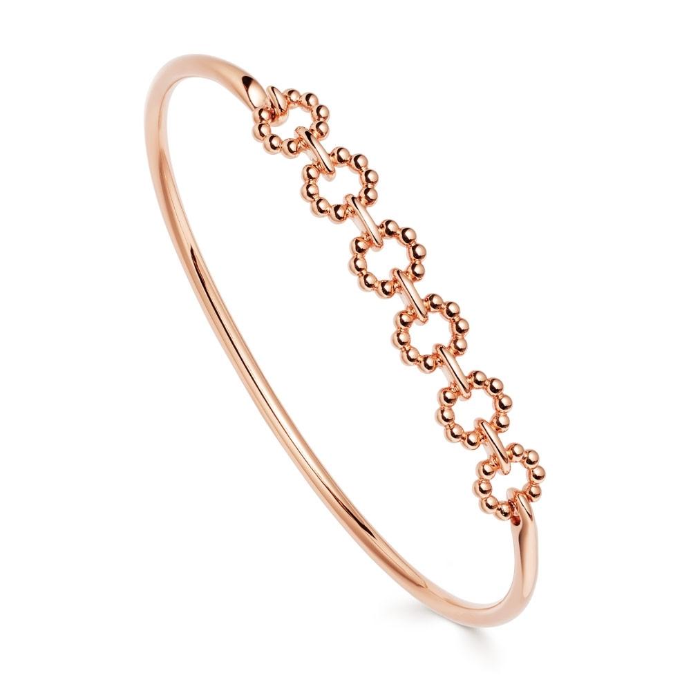 Stilla Arc Rose Gold Chain Bangle