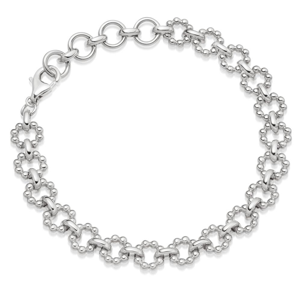 Stilla Arc Silver Chain Bracelet