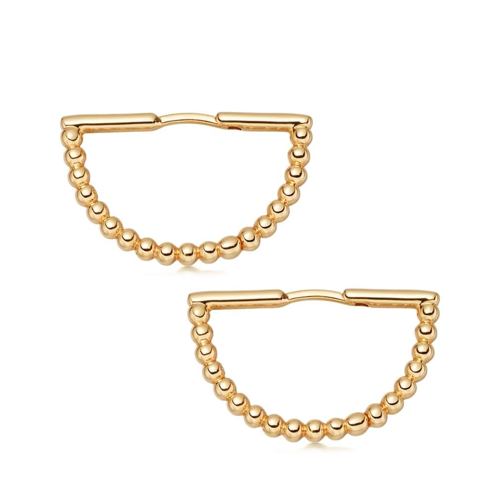 Stilla Arc Hoop Earrings