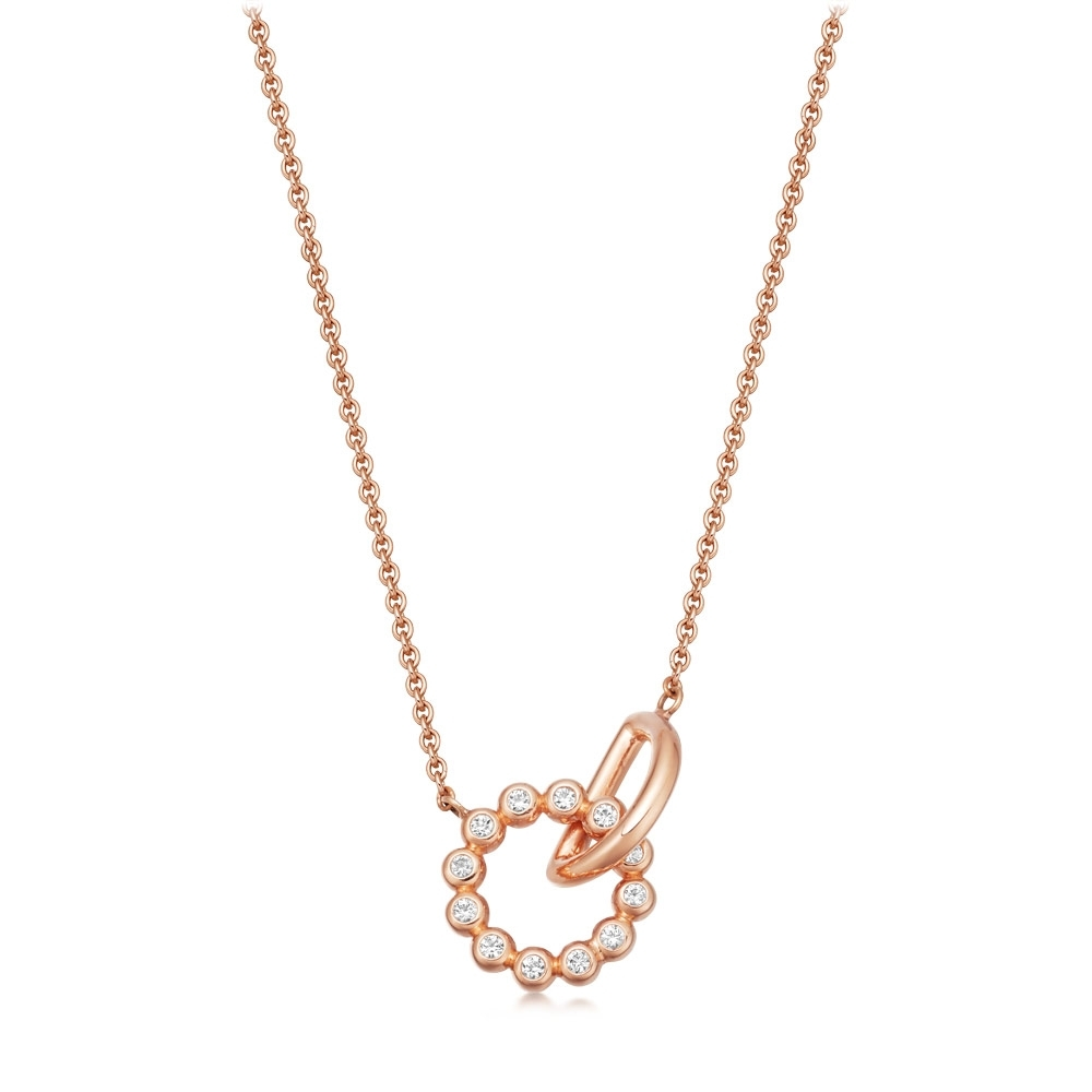 Stilla Arc Rose Gold Interlocking Pendant Necklace