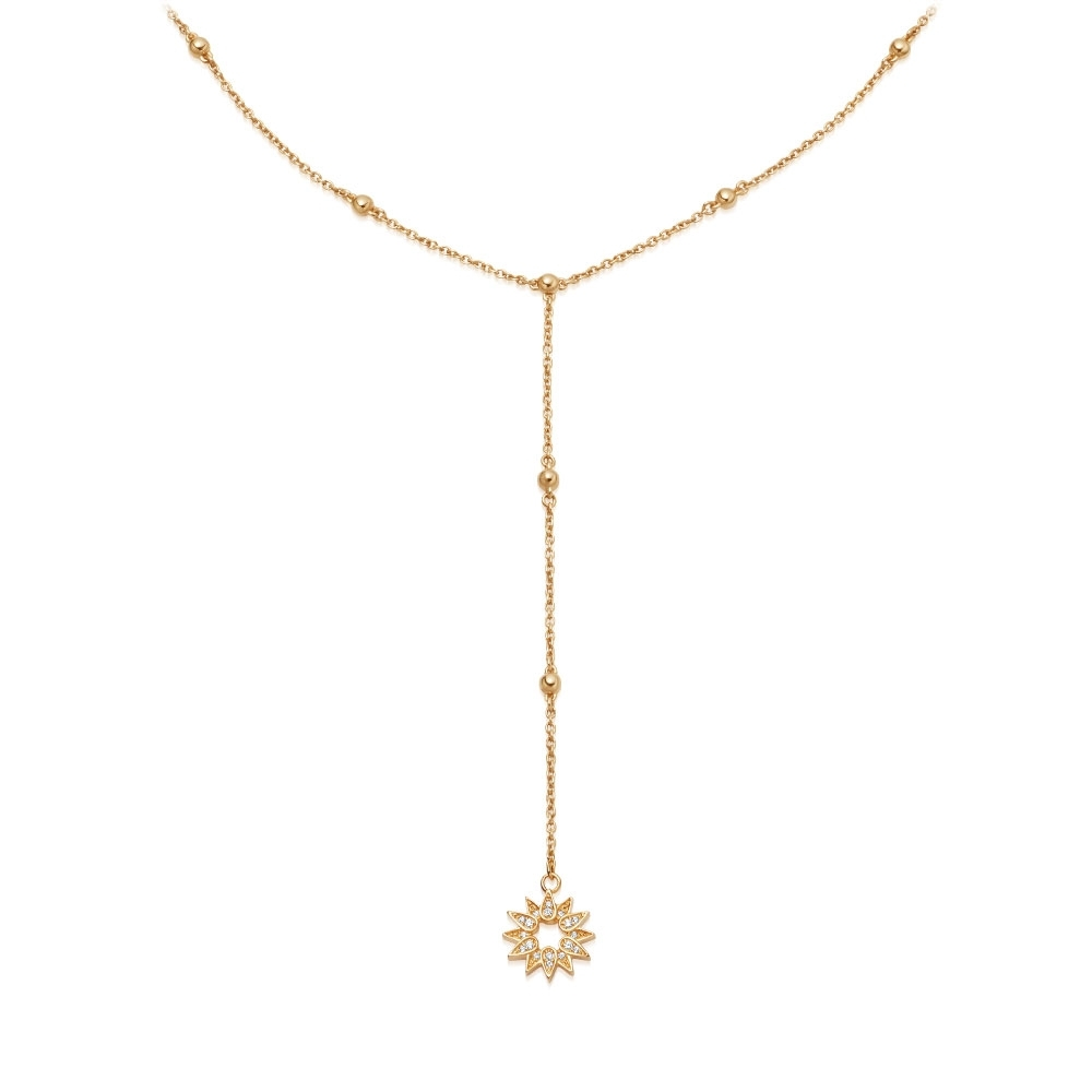 Biography Sun Lariat Necklace