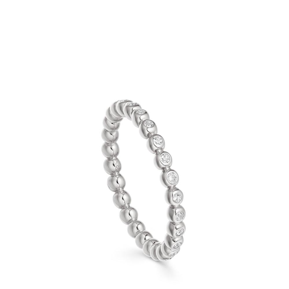 Stilla Arc Silver & Sapphire Eternity Ring
