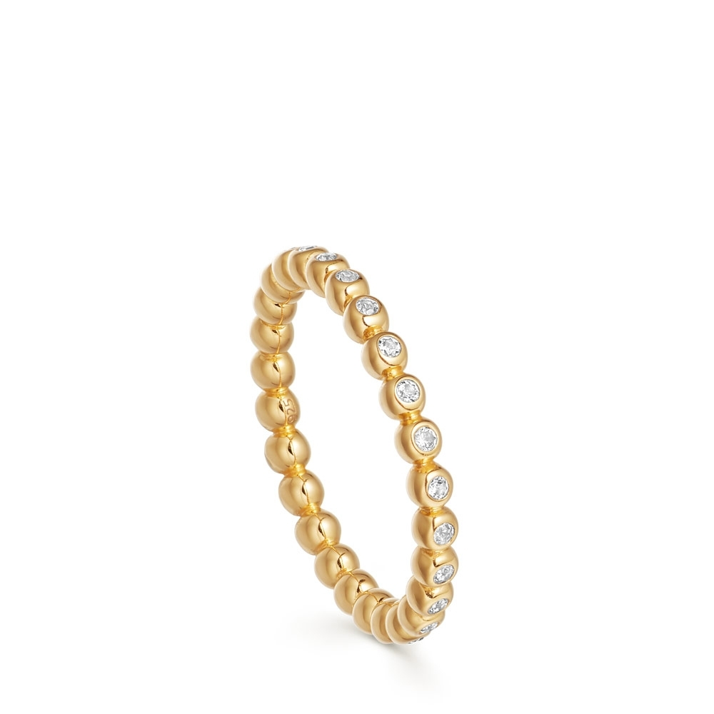 Stilla Arc Gold & Sapphire Eternity Ring