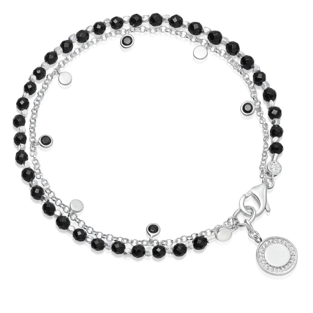 Black Onyx Cosmos Droplet Bracelet