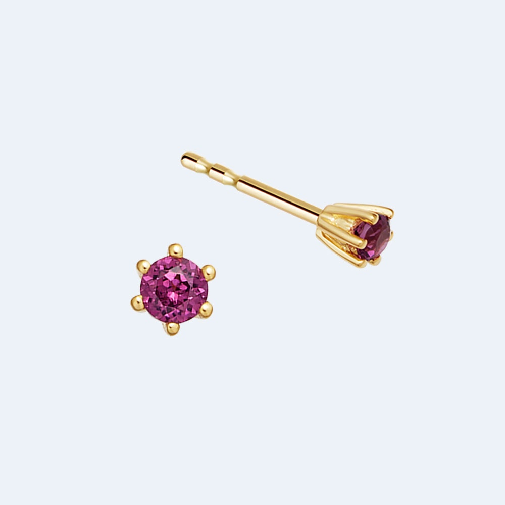 Linia Rhodolite Stud Earrings