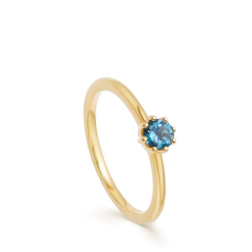 Mini Linia London Blue Topaz Ring