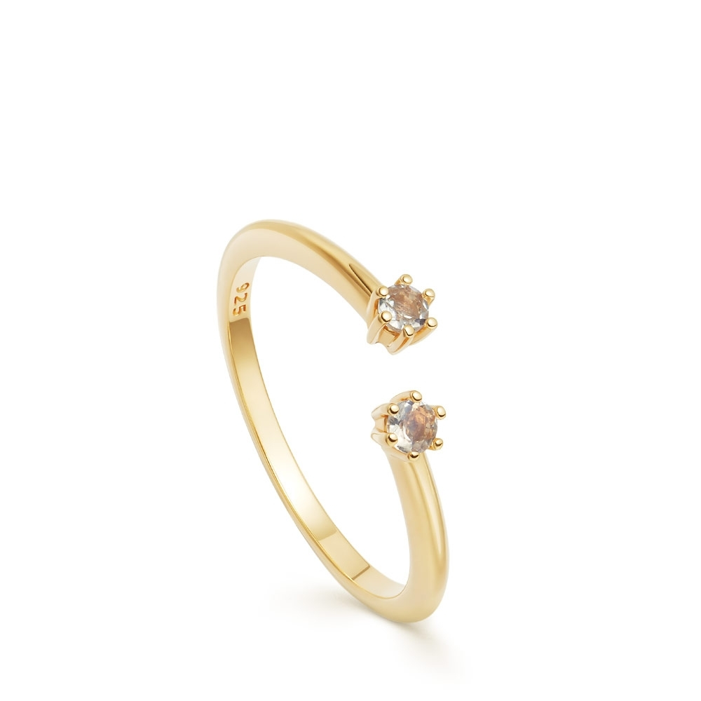 Linia Rainbow Moonstone Open Ring