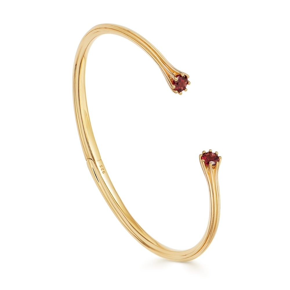 Linia Rhodolite Open Bangle