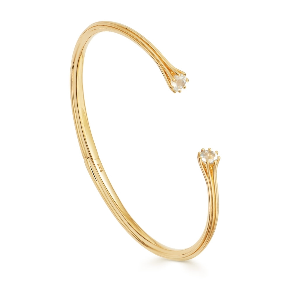 Linia Rainbow Moonstone Open Bangle