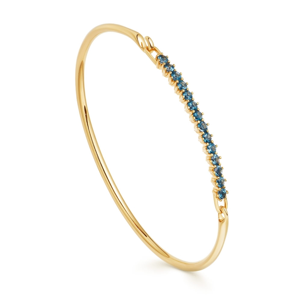 Linia London Blue Topaz Bangle