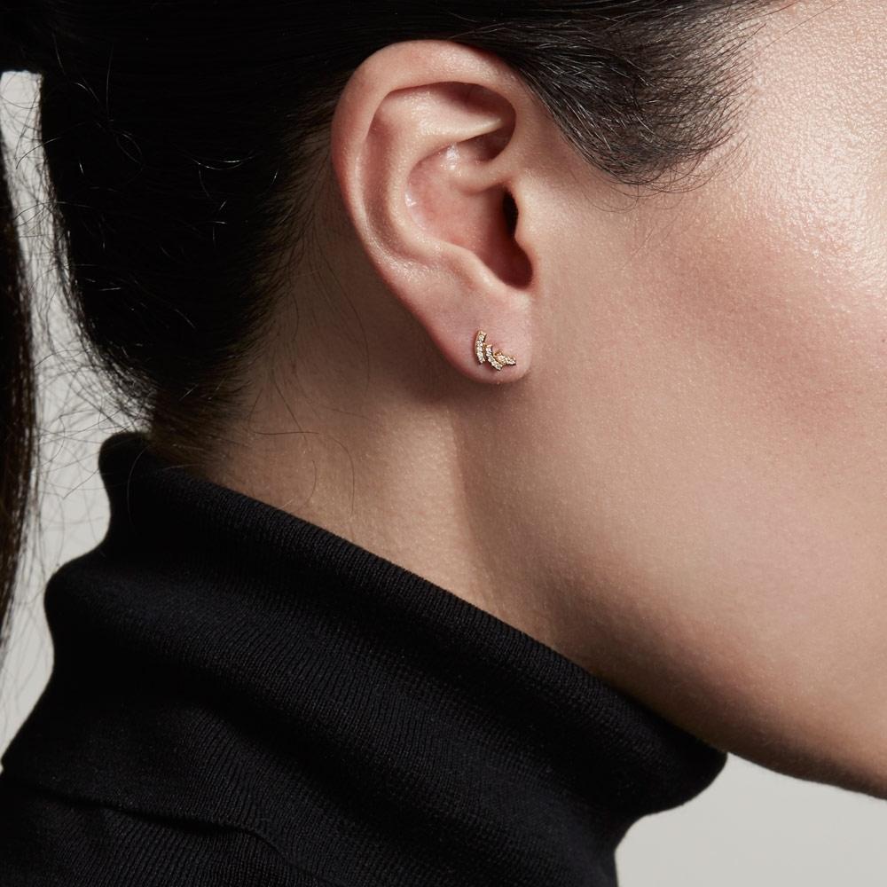Icon Scala Diamond Stud Earrings