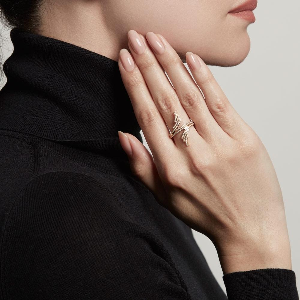 Double Icon Scala Diamond Ring