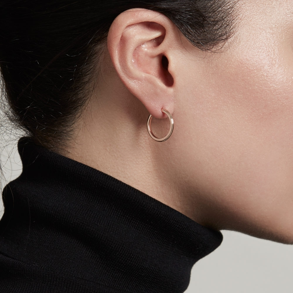 Small Linia Hoop Earrings