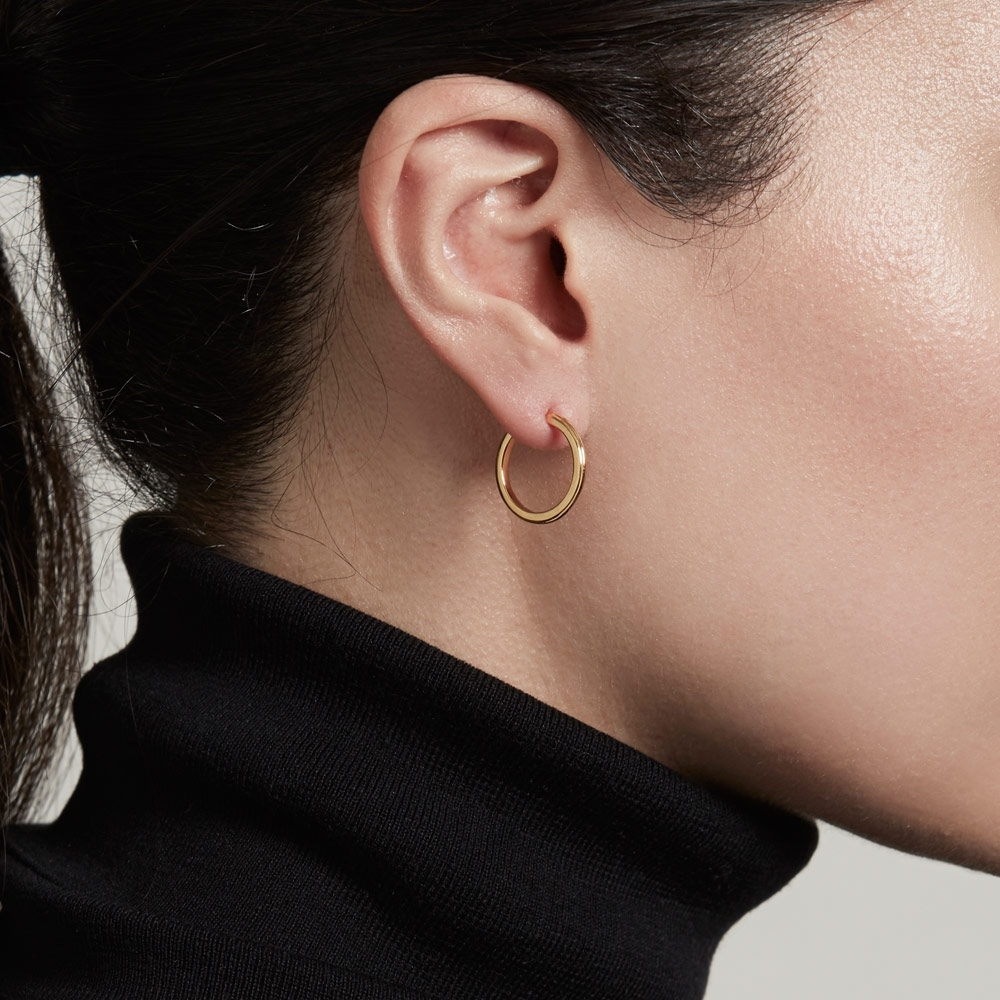 Small Linia Hoop Earrings