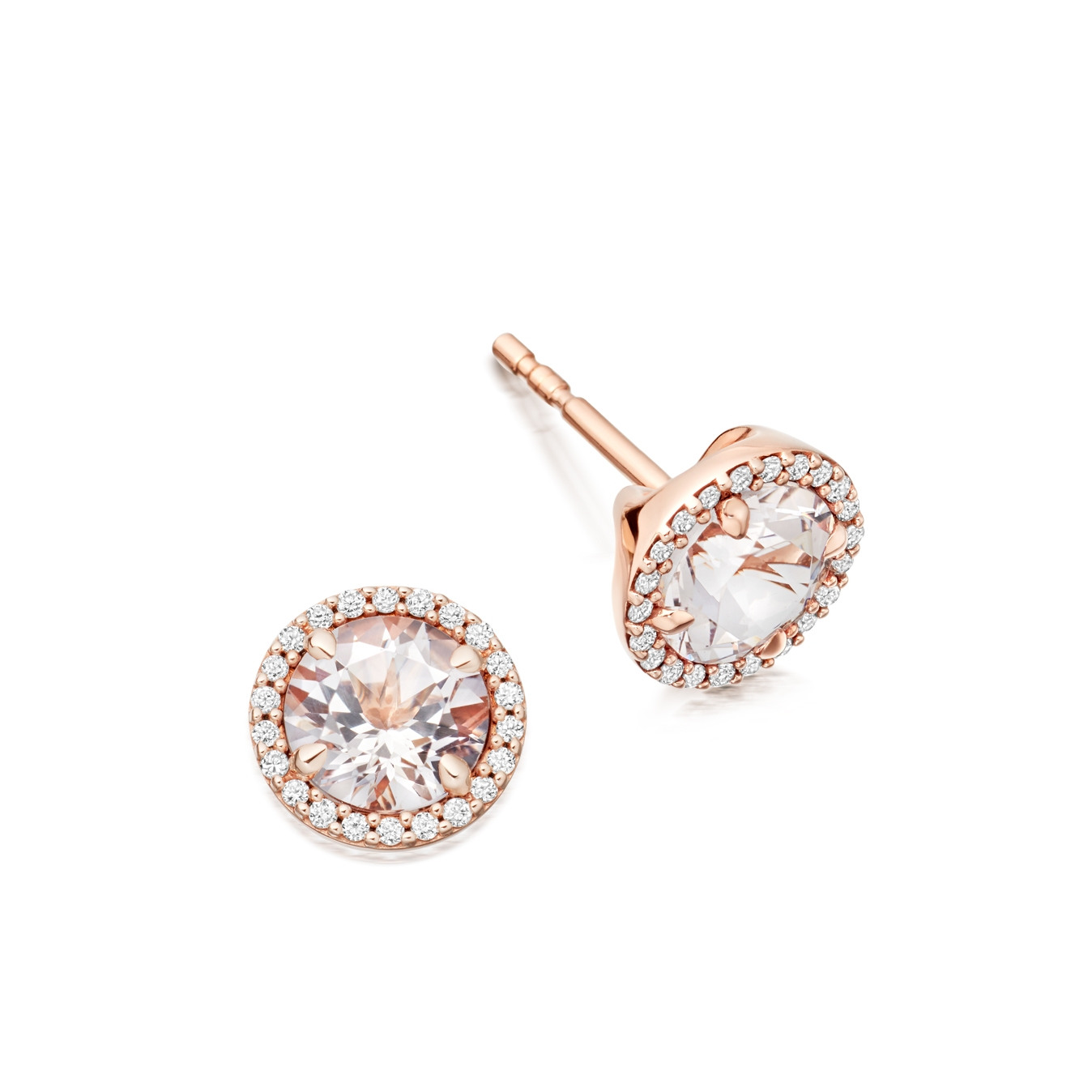 Morganite Leah Stud Earrings